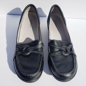 LL BEAN Black Loafers Sz 10